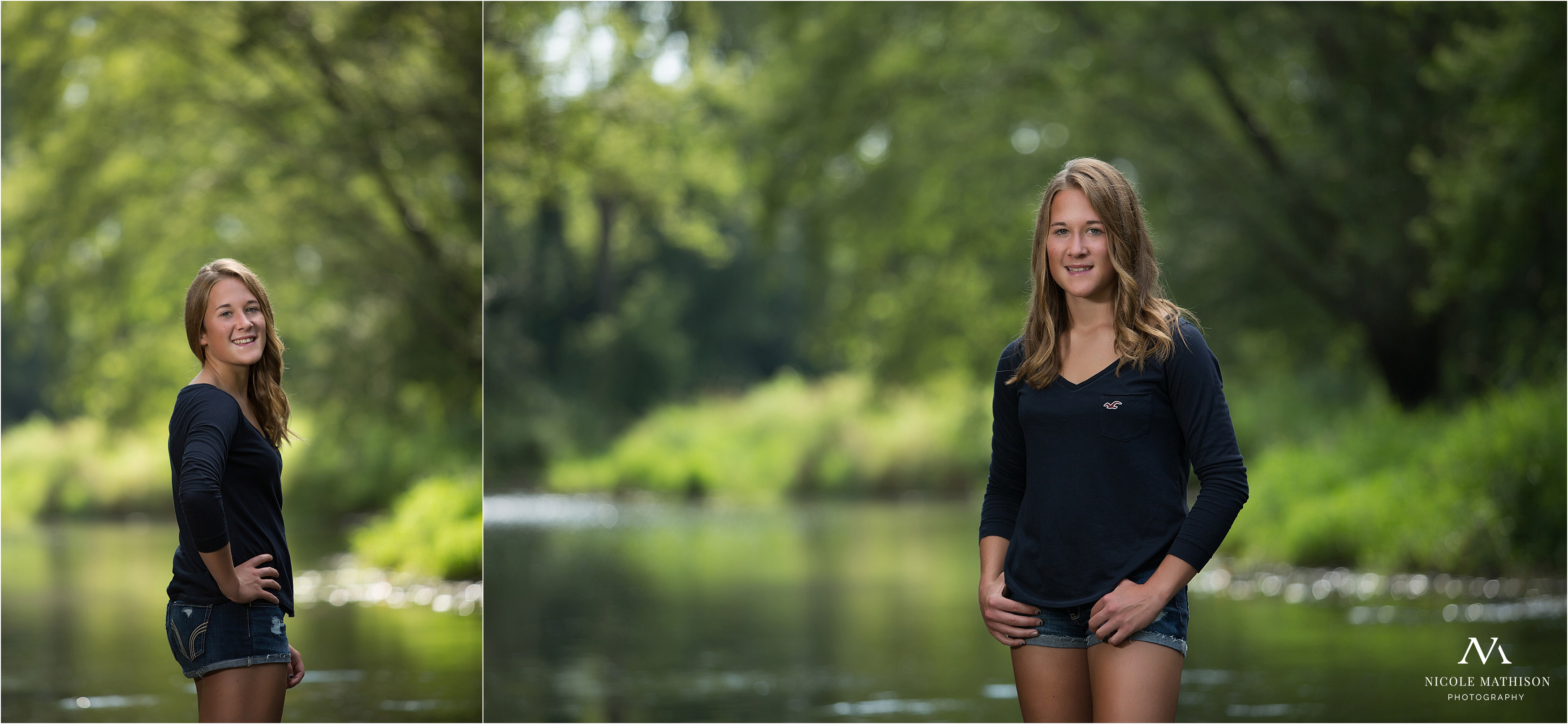 summer river senior portraits