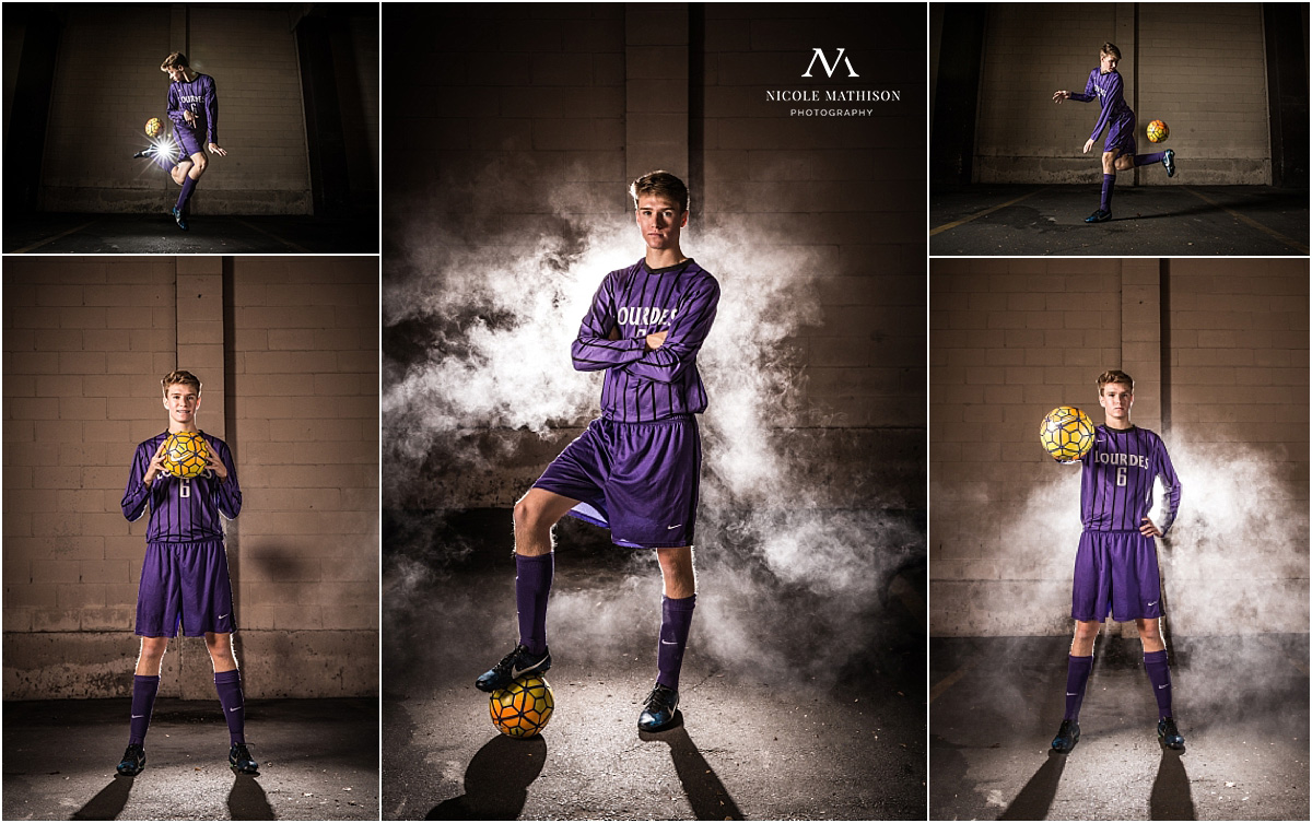 Cool soccer photos with smoke