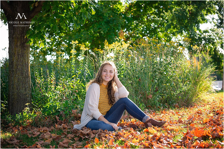 Rochester MN Fall Senior Portraits at Golden Hour